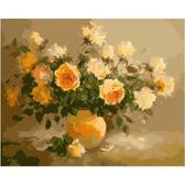Нежно- желтые розы, 40х50см