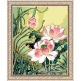 Цветы лотоса, 40х50см