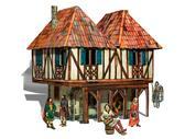 Сборная модель из картона Дом бюргера серии Средневековый город от Умная бумага (Умбум)