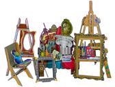 Коллекционный набор сборной мебели из картона Мастерская художника от Умная бумага (Умбум)