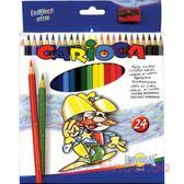 24 шт Цветные карандаши коробка