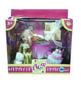 Набор с куклой 11см С днем рожденья!. Ася, блондинка в золотом платье от Ася