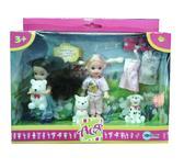 Набор с куклой 11см Лучшие друзья. Ася, 3 платья и розовый костюм от Ася