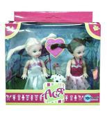 Набор с куклой 11см Парк развлечений. Ася, белое и розовое платье от Ася