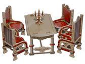 Коллекционный набор сборной мебели из картона Столовая(белая) от Умная бумага (Умбум)
