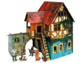 Сборная модель из картона Дом с кораблем серии Средневековый город от Умная бумага (Умбум)