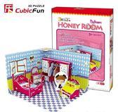 Трехмерная головоломка-конструктор Комната Хани - Спальня. CubicFun от CubicFun (Кубикфан)
