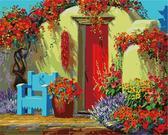 Дворик в цветах, 40х50см