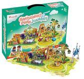 Трехмерная головоломка-конструктор Поездка в парк развлечений. CubicFun от CubicFun (Кубикфан)