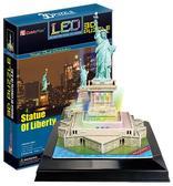 Трехмерная головоломка-конструктор Статуя свободы LED