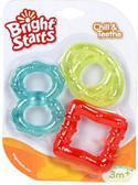 Прорезыватель Цветные льдинки 3 шт. в наборе, восьмерка, овал, квадрат