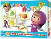 Игра с липучками Вжик Лото. Маша и Медведь (русский язык). Vladi Toys от Vladi Toys (ВладиТойс)