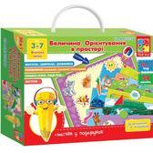 Игра с магнитами «Величина. Ориентирование в пространстве.». Vladi Toys, на украинском языке от Vladi Toys (ВладиТойс)