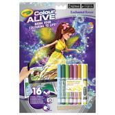 Серия Color Alive.Книга-раскраска с фломастерами Волшебный лес;4+ от Crayola (Крайола)