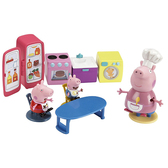 Игровой набор Peppa - КУХНЯ Пеппи (кухонная мебель и техника, 3 фигурки)