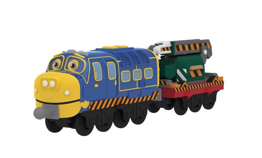 Паровозик Брюстер с вагоном-экскаватором