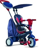 Велосипед Star 4 в 1 полосато-синий от Smart Trike (Смарт Трайк)