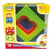 Детская игрушка Кубики-пирамидка;9М+;укр.упаковка от BeBeLino (Бебелино)
