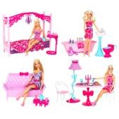 Кукла и набор мебели Барби в ас. (3)