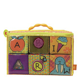 Развивающие мягкие кубики-сортеры ABC (6 кубиков, в сумочке) от Battat (Баттат)