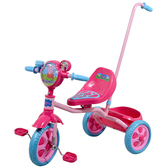Велосипед детский 3-х колесный лицензионный - PEPPA (ручка, масс. сид, звонок, корзина, пропеллер) от Peppa Pig (Свинка Пеппа)