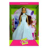 Набор с куклой 28см Свадебное платье; вариант 2 от Ася