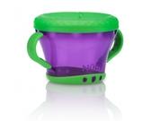 Тарелочка для сухих завтраков с ручками 250-300гр12m+, фиолетовая с зеленым от NUBY (Нуби)