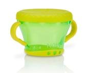 Тарелочка для сухих завтраков с ручками 250-300гр12m+, зеленая с желтым от NUBY (Нуби)