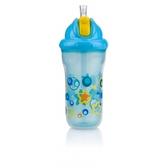 Термопоильник с трубочкой-непроливайкой Встроенный клапан (270ml) 12m+, голубой с желтым