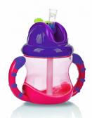 Поильник с трубочкой-непроливайкой Встроенный клапан, (270ml) 12+, розовый