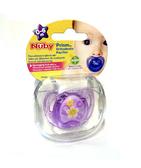 Пустышка Prizm, форма Ортодонтическая, 0-6+, фиолетовая от NUBY (Нуби)