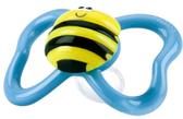 Пустышка Веселые жучки, форма Анатомическая 0-6m+, пчелка с голубыми крыльями от NUBY (Нуби)