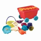 Набор для игры с песком и водой - ТЕЛЕЖКА помидорчики (11 предметов)