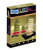 Трехмерная головоломка-конструктор Пизанская башня LED (сложность 4)