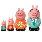Набор игрушек-брызгунчиков Peppa - СЕМЬЯ Пеппы (4 фигурки) от Peppa Pig (Свинка Пеппа)