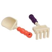 Набор для игры с песком - грабельки и лопатка (цвет папайя-сливовый)