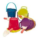 Набор для игры с песком и водой - ведерко с лопаткой (цвет сливовый)