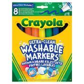 8 смываемых широких фломастеров, 3+ от Crayola (Крайола)
