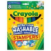 8 легкосмываемых фломастеров-штампов, 3+ от Crayola (Крайола)