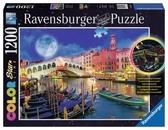 Картонные пазлы - светится Полнолуние в Венеции