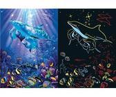 Картонные пазлы - светится Волшебные дельфины