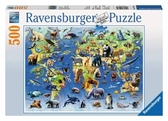 Картонные пазлы Редкие виды животных 500 элементов