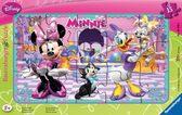Картонные пазлы с аксессуарами Дисней в рамке Минни Маус 15 элементов