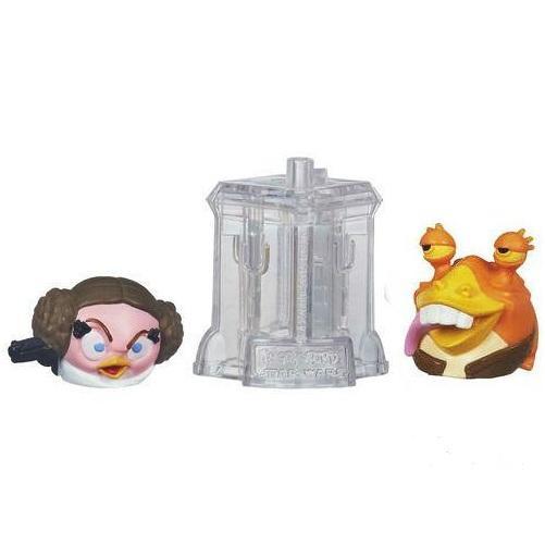 Игровой набор Angry Birds - дополнительные персонажи 2 шт от Hasbro. Star Wars, Принцесса Лея и Джа Джа Бинкс