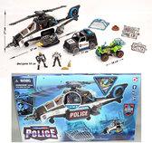 Игровой набор серии Полиция с большим вертолетом, CHAP MEI. от CHAP MEI