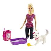 Набор Barbie с котенком серии Уход за любимцами от Barbie (Барби)