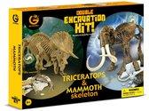 Набор юного палеонтолога Трицератопс и Мамонт, Geo World. от Geoworld