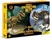 Набор юного палеонтолога Ти-Рекс и Саблезубый тигр, Geo World. от Geoworld
