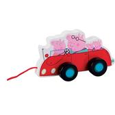 Деревянная игрушка-каталка Peppa - СЕМЬЯ ПЕППЫ В МАШИНЕ от Peppa Pig (Свинка Пеппа)
