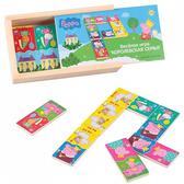 Деревянный игровой набор Peppa – КОРОЛЕВСКОЕ ДОМИНО ПЕППЫ (28 эл-тов 7,5х3,5 см, в деревянной кор.) от Peppa Pig (Свинка Пеппа)